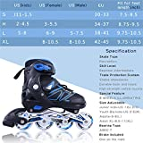Adjustable Inline Skates for Girls and Boys with