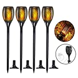 Solar Torch Lights, Waterproof Flickering Flame