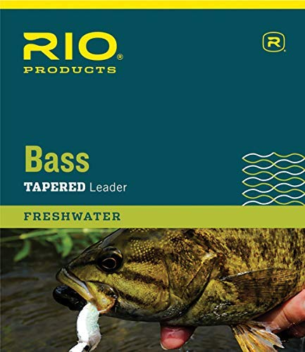 RIO Products Leaders Bass Leaders 9' 8Lb 3 Pack, Clear (The Best Fishing Line For Bass)