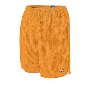 Champion Long Mesh Mens Shorts with Pockets, L-Granite