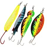 Fishing Lures Metal Casting Trolling Spoons Spinners Baits Lures for Trout Salmon Walleye Musky Northern Pike and Largemouth Bass in Freshwater and Saltwater Fishing Spoons