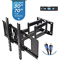 "TV Wall Mount with Dual Articulating Extension Arm, Tilt, Swivel and Rotation for 32-70"" TVs"