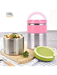 Vacuum Thermos Lunch Box Stainless Steel Food Jar 2...