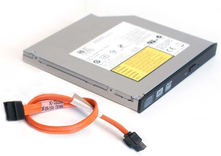 Genuine Dell DVD-ROM CD-ROM SATA Optiplex 760, 780, 960, 980, 380, 580, 790 SFF Small Form Factor Slimline Slim Internal Optical Drive and SATA Cable
