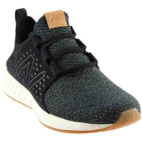 New Balance Women's Fresh Foam Cruz v1 Running Shoe, Black/Sea Salt, 7 B US
