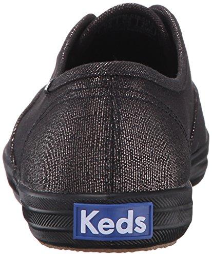 Keds Damen Ch Met Canvas Sneakers Schwarz (Blk/Blk)