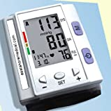 EastShore Digital Wrist Blood Pressure Monitor , 120 memory in 4 group ,Irregular Heart Beat detector, Jumbo LCD