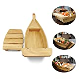 XMYZ Wooden Sushi Boat Serving Tray Restaurant Hotel Supplies-Display Boat-1piece-33/37/42cm