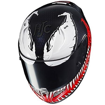 Amazon.com: HJC Helmets Marvel Unisex-Adult Full-Face Helmet (Black/Red/White, Medium) (RPHA-11 Pro Venom MC-1): Automotive