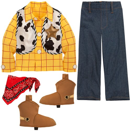 Disney Store Woody Halloween Costume Size XS 4-4T Toy Story Sheriff Outfit (Denim Jacket Halloween Costume)