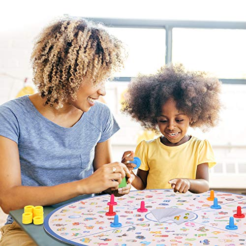 Board Game, Cyiecw Matching Board Games Little Detective Card Game Tabletop Game Board Educational Games Memory Game for Family Kids Toddlers 3,4,5,6,7 Years Old Boys & Girls