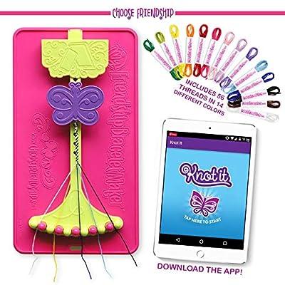 Choose Friendship, My Friendship Bracelet Maker Kit (New Version) - Bracelet Craft Kit and Knot it App Patterns, 56 Threads, Deluxe Traveler Friendship Bracelet Maker: Toys & Games