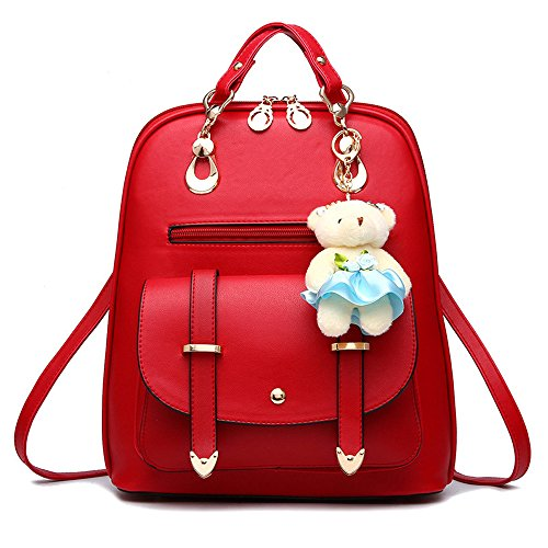 (BAG WIZARD Women Small Backpack Purse Cute Quilted Faux Leather Mini Back Pack Purses for Teen Girls)
