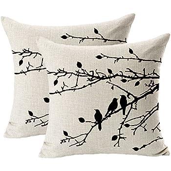Brand new Amazon.com: CoolDream Cotton Linen Square Decorative Throw Pillow  ML17