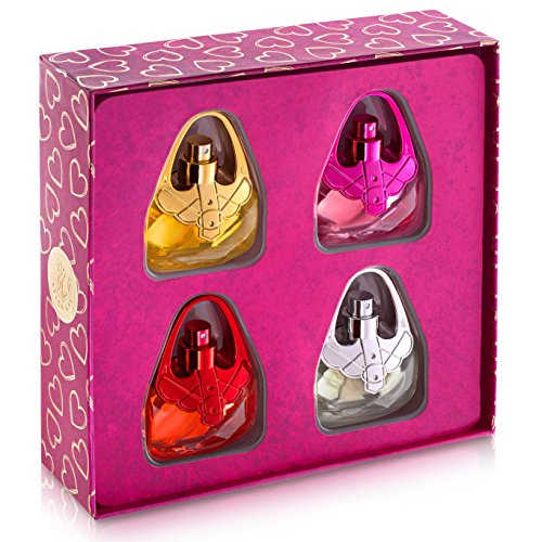 Eau De Fragrance Perfume Sets for Girls- Perfect Body Mist Gift Set for Teens and Kids - Purses - 4 Pack by Scented Things (Image #1)