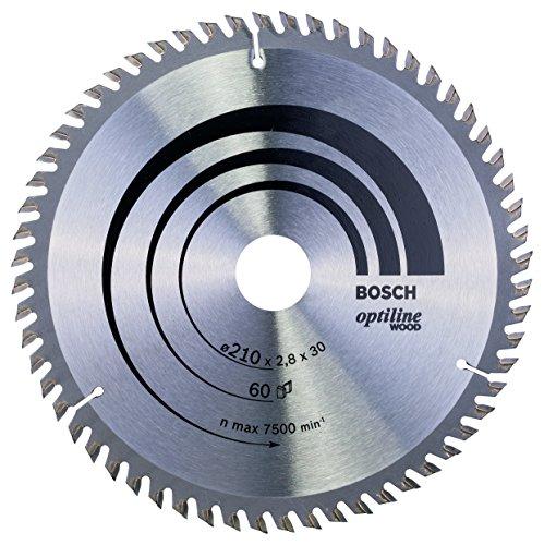 Bosch 2 608 641 190 - Hoja de sierra circular Optiline Wood - 210 x 30 x 2,8 mm, 60 (pack de 1)