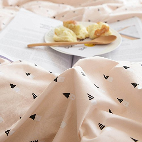 BuLuTu Black Triangle Girls Bedding Duvet Cover Sets