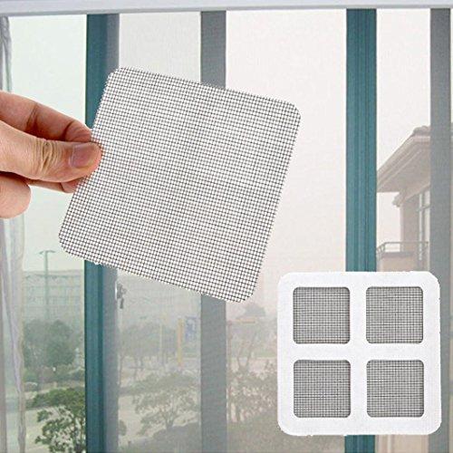 Quartly Bug Mesh Patch Kit Screen Net Window Repair Fix Tape Patch Adhesive Fixing 6pcs (1010cm, Black)
