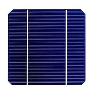 GTSUN 50pcs Monocrystalline Solar Cell 6x6 4.2w 2busbar DIY Solar Panel Module Kit