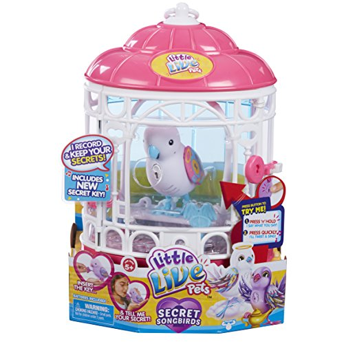 Little Live Pets 28399Secret Angie Talking jouet pour oiseau avec cage