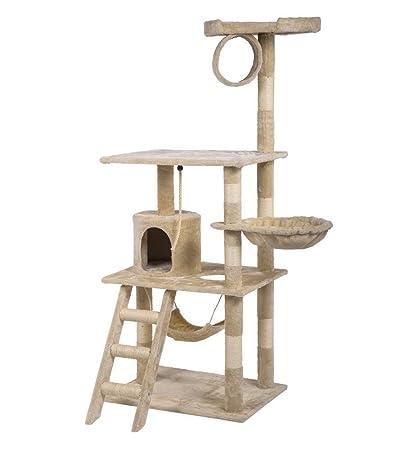 Gentil BestPet Cat Tree Condo Furniture Scratch Post Pet House, 80 Inch, Beige
