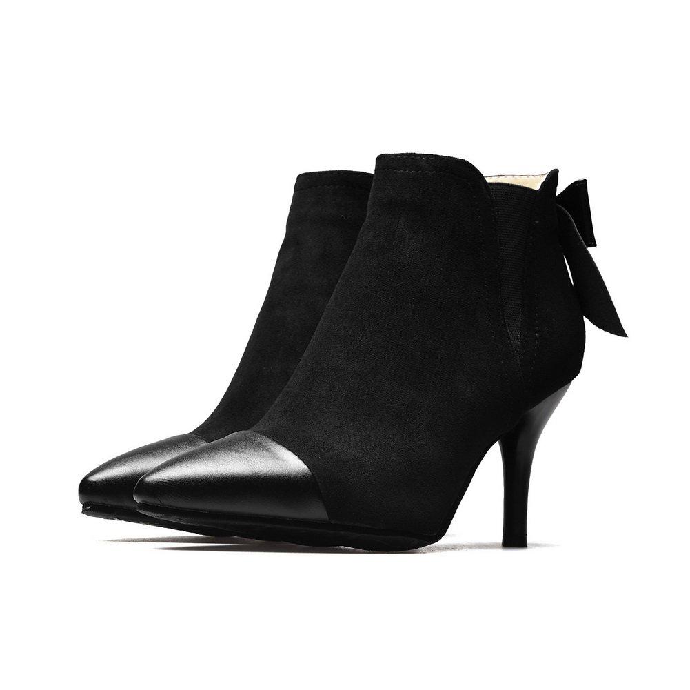 BalaMasa Womens Dress Pointed-Toe Slip-Resistant Urethane Boots ABL10142