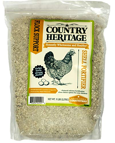 Aragonite Calcium - Country Heritage Chicken Poultry Egg Shell Hardener Fortifier 5 Pounds