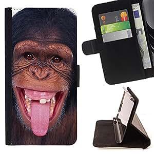 - Monkey Cute Animal/ Personalizada del estilo del dise???¡Ào de la PU Caso de encargo del cuero del tir????n del soporte d - Cao - For Samsung Galaxy S5 V SM-G900