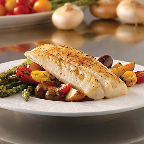 Trident Fresh Wild Alaskan Cod Loins, 10 lbs, Pre-portions 5 to 8 oz. fillet Seafood