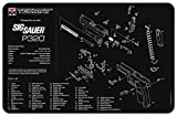 TekMat SIG SAUER P320 GUN CLEANING MAT, THICK, DURABLE, WATERPROOF, SCRATCH RESISTANT, WITH PARTS DIAGRAM AND INSTRUCTIONS/ARMORERS BENCH MAT/SIG SAUER P320 ACCESSORIES/ORIGINAL