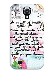 Snap-on Case Designed For Galaxy S4- Funny Life Quotes