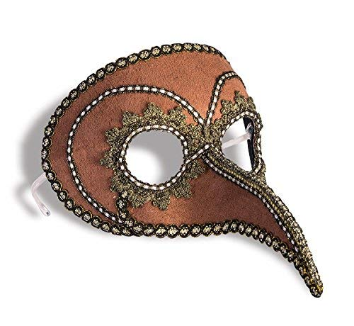 Forum Novelties 77767 Steampunk Beaked Venetian Style Mask Brown Gold Eyeglass Arms Costume Accessory, One Size for $<!--$9.43-->