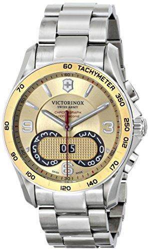 Victorinox Unisex 241619 Chrono Classic Analog Display Swiss Quartz Silver Watch