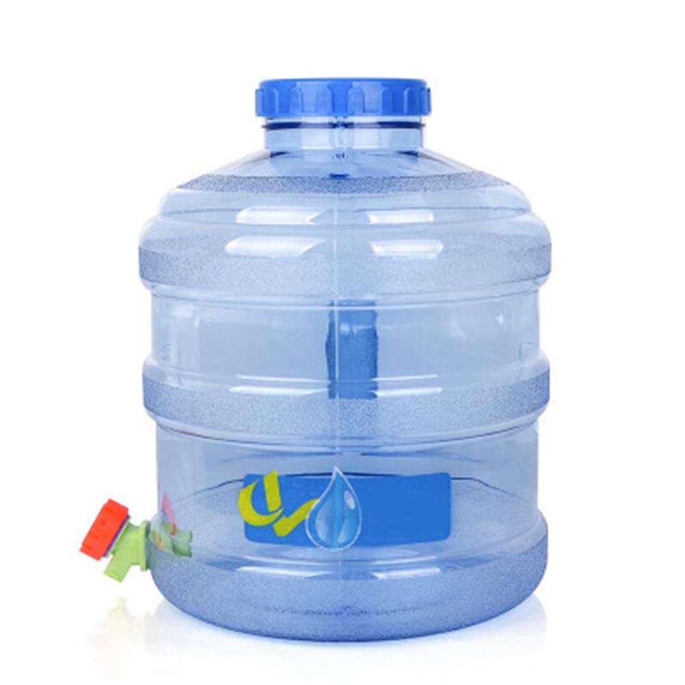 Water Container with Tap,Drinking Bucket Storage Barrel Water Carrier for Camping Hiking Travel Outdoor Picnic, Road Trips,PE Plastic,11.3L