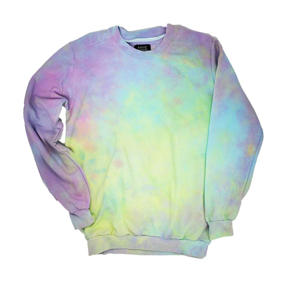 Pastel Goth Tie Dye Sweatshirt Unisex by Masha Apparel