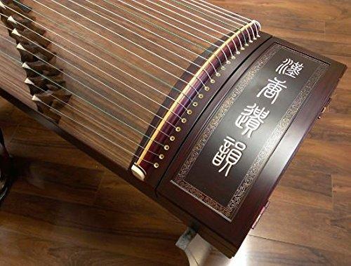 Circular Inlays - Sound of China Rosewood Guzheng with Bone Powder Inlay