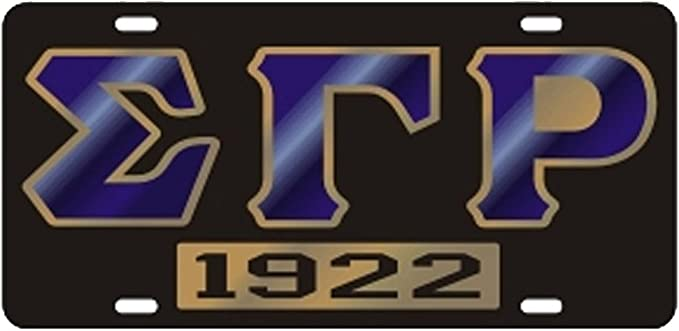 Sigma Gamma Rho 1922 Mirror w//Embossed Letters License Plate