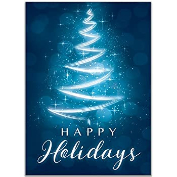 Amazon christmas holiday card h1129 thank clients for their holiday cards with happy holidays text for christmas appropriate for personal or business use reheart Gallery