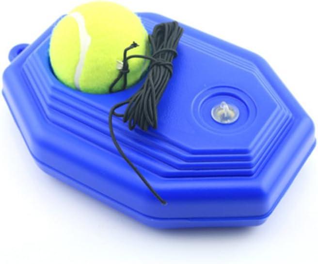 Hinmay Zapatillas de Pelota de Tenis, Base de Tenis con una Cuerda de Rebote de Tenis de autoestudio con Estribo de Entrenamiento + 1 Pelota de Entrenamiento con Diseño Exquisito y Mano de Obra Fina