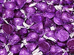 Hershey\'s Kisses - Dark Chocolate - Purple, 4.5 pounds