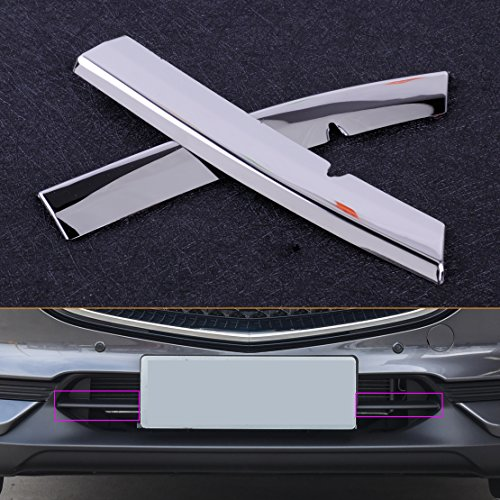 (Daphot-Store Stainless Steel Chrome Plated Grill Strips Bumper Air-inlet Grille Trims Fit for Mazda CX5)