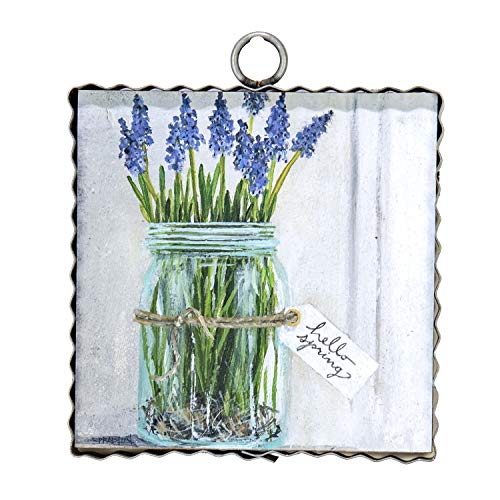 (The Round Top Collection - Gallery Hello Spring Mason Jar Wall Art - Metal & Wood )