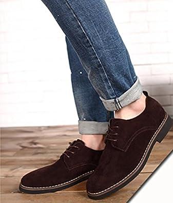 Bebete5858 Supplémentaire notamment Grand Taille 48 Hommes PU Suède Cuir  pour des Hommes Décontractée Chaussures Angleterre Style  Amazon.fr   Chaussures et ... b9fb449d7d94