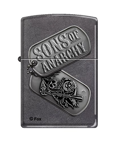Zippo Sons Of Anarchy Lighters  Gray Dusk Finish