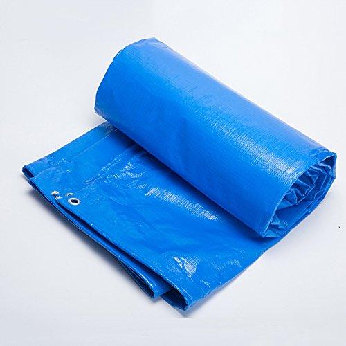 所持プレビューフィードZEMIN オーニング サンシェード ターポリン 防水 日焼け止め テント シート 防風 ルーフ 老化防止 ポリエステル、 青、 180G/14サイズあり (色 : 青, サイズ さいず : 4X6M)