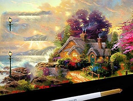 JUNGEN 10 PCS Pinceaux de Peinture Artiste Aquarelle avec Manche Bois