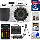 Kodak PIXPRO AZ401 Astro Zoom Digital Camera (White) 32GB Card + Batteries & Charger + Case + Tripod + Kit