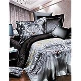 Y-ZH. Duvet Cover Set,3D Tiger Bedding Set Bed Cover Duvet Cover Sets Linens Bed in A Bag Comforter Sets Bedclothes