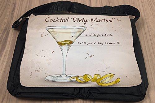 Borsa Tracolla Nostalgico Alcool Retro Dirty Stampato