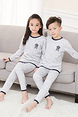 Generic Children thermal underwear sets baby boys and girls fall and winter plus thick velvet Qiuyiqiuku milk silk warm clothing